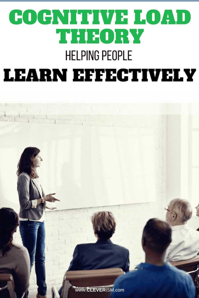 Cognitive Load Theory: Helping People Learn Effectively
