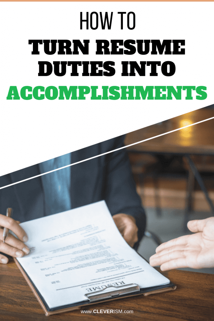 How to Turn Resume Duties into Accomplishments