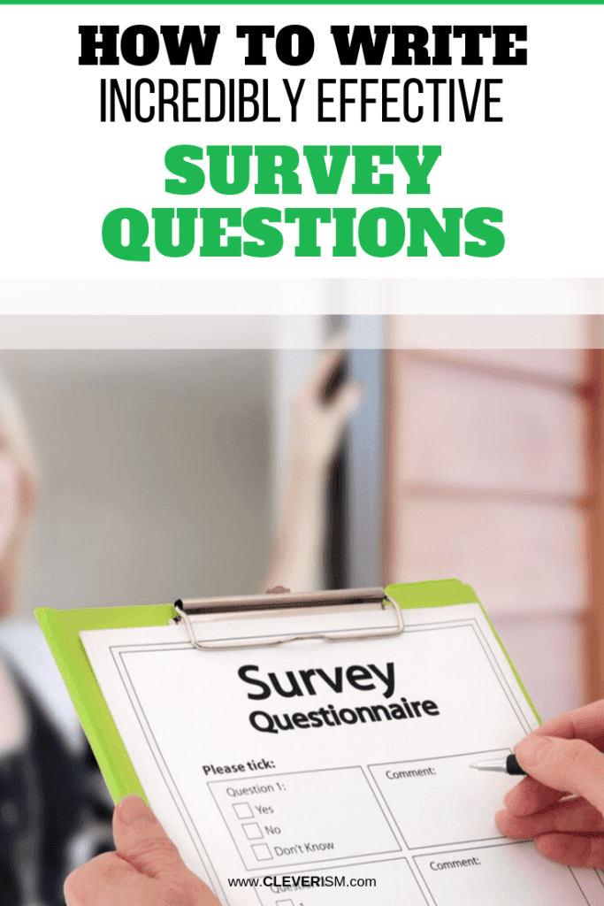 How to Write Incredibly Effective Survey Questions