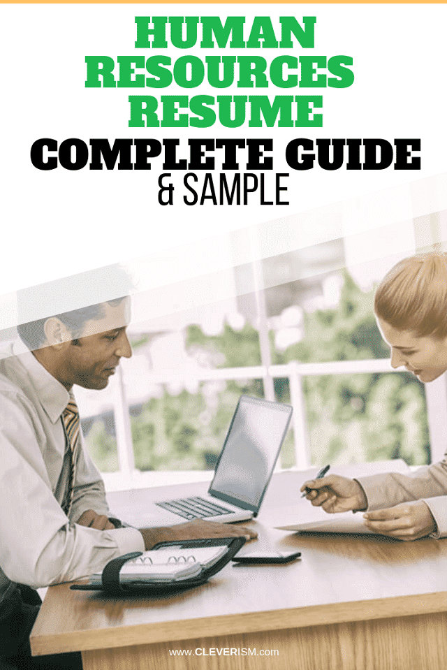 Human Resources Resume: Sample and Complete Guide