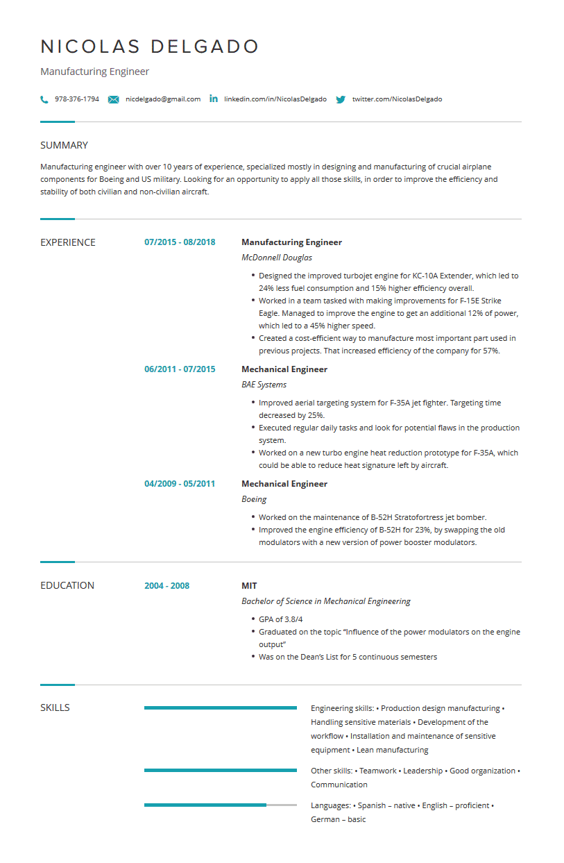 Mechanical Engineering Resume Examples Template Tips Cleverism