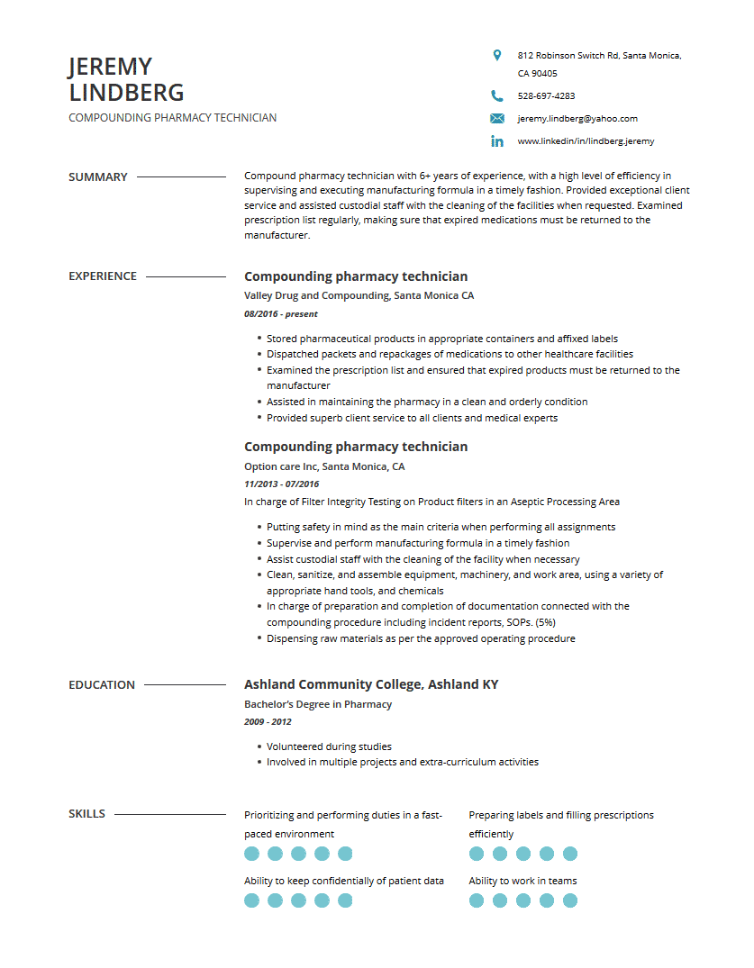 pharmacy technician resume examples template  complete