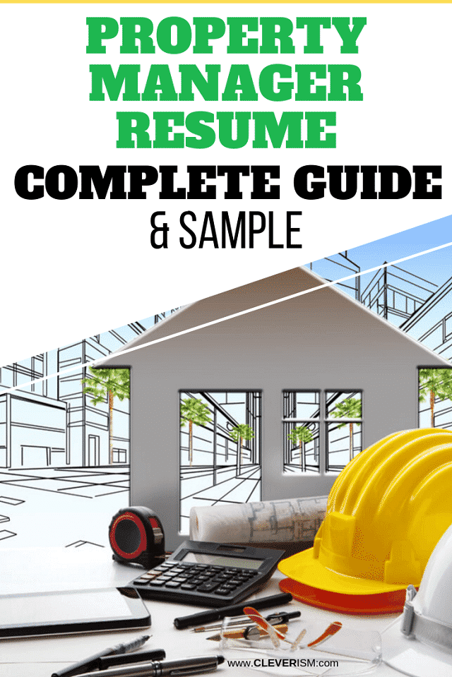 Property Manager Resume: Sample and Complete Guide
