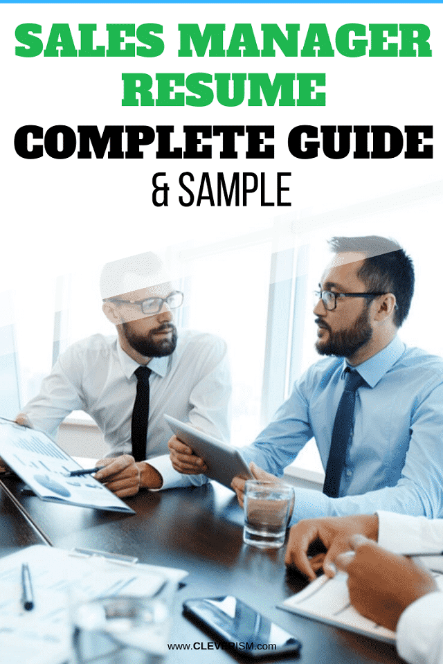 Sales Manager Resume: Samples & Complete Guide