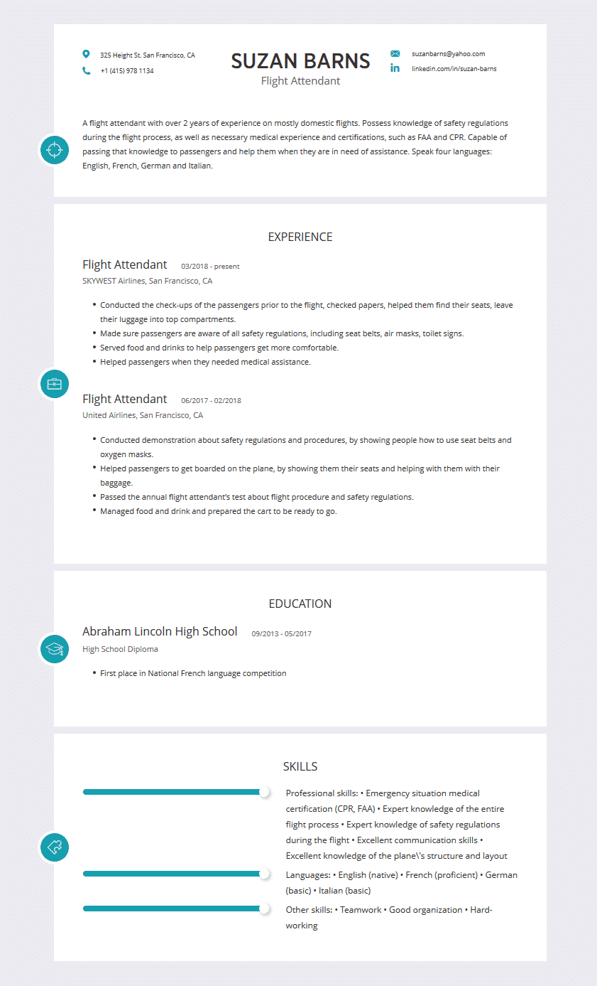 flight attendant resume  examples  template  and resume tips