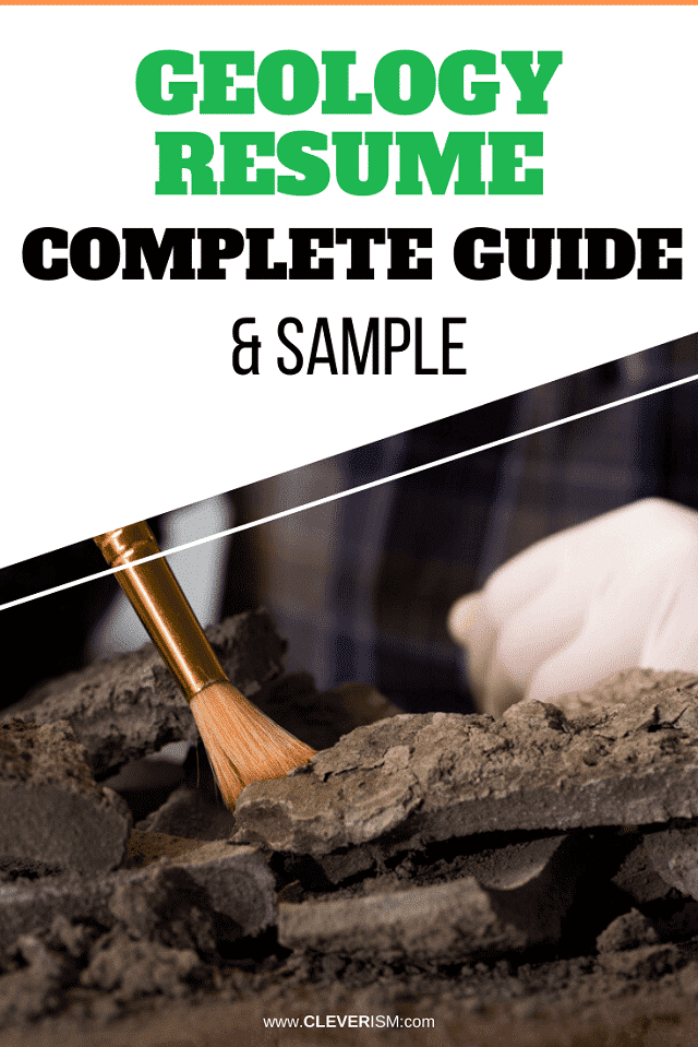 Geology Resume: Sample and Complete Guide
