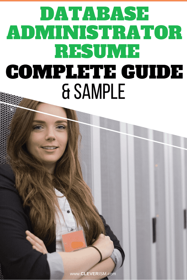 Database Administrator Resume: Sample and Complete Guide