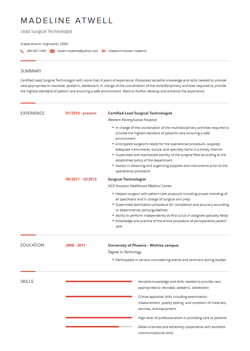 surgical tech resume  examples  template  and resume tips