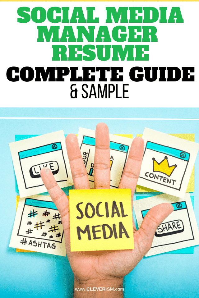 Social Media Manager: Sample & Complete Guide