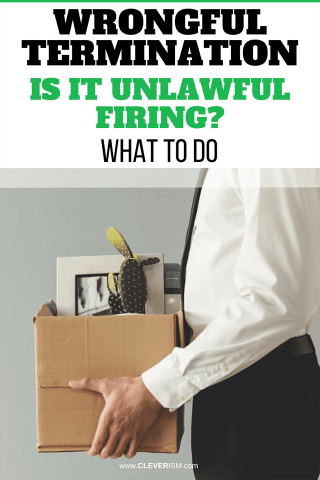 Wrongful Termination: Is It Unlawful Firing? What to Do [Examples]