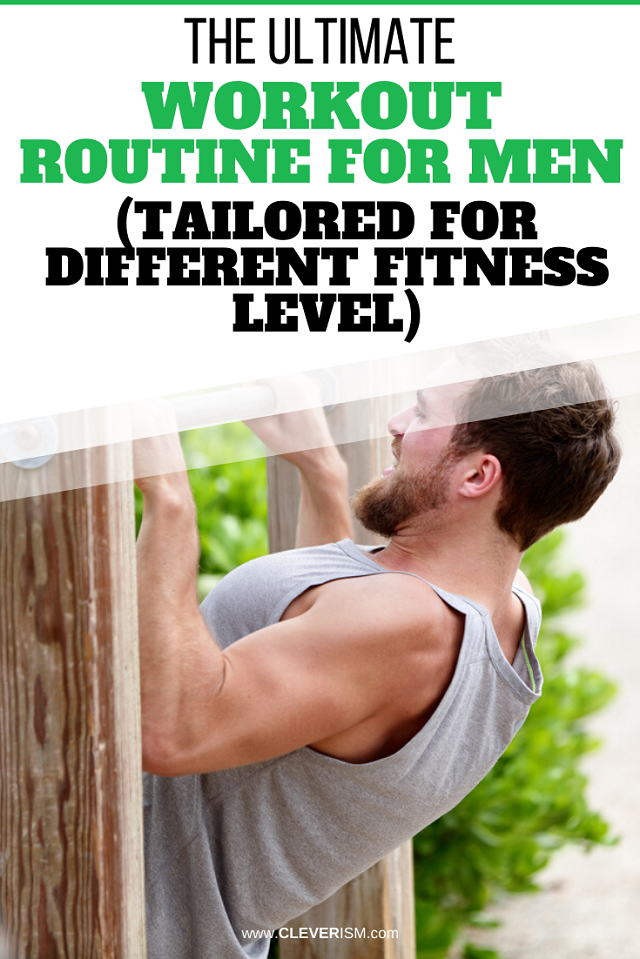 The Ultimate Workout Routine for Men (Tailored for Different Fitness Level)