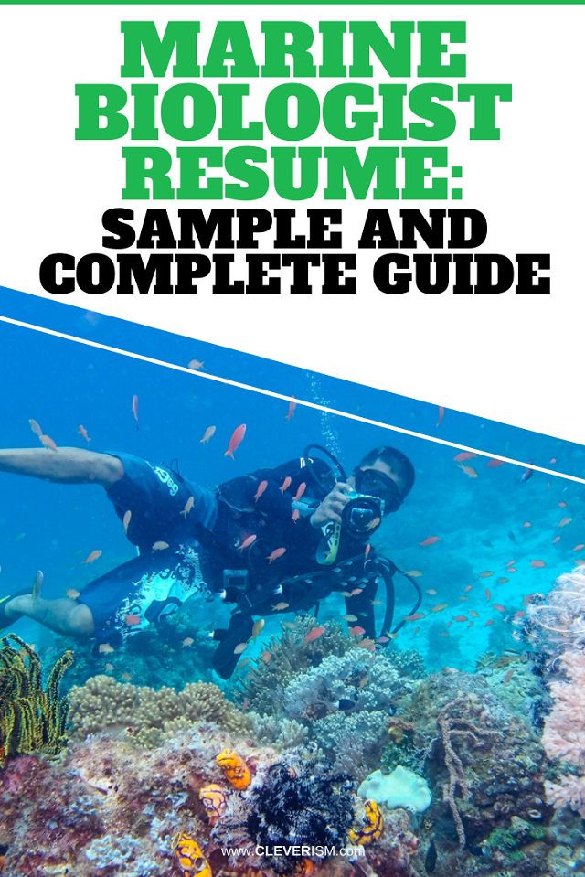 Marine Biologist Resume: Sample And Complete Guide